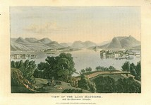 View of the Lago Maggiore and the Borromeo islands